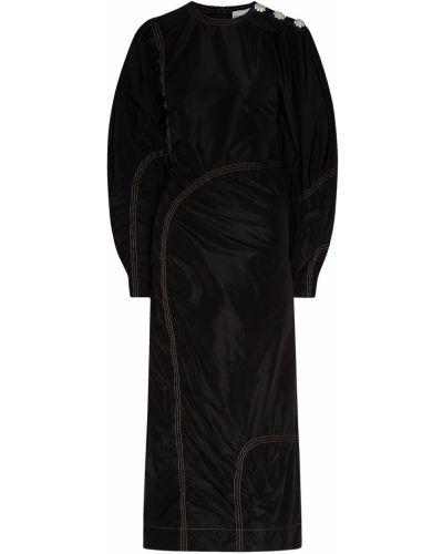 Платье миди на пуговицах на молнии Ganni