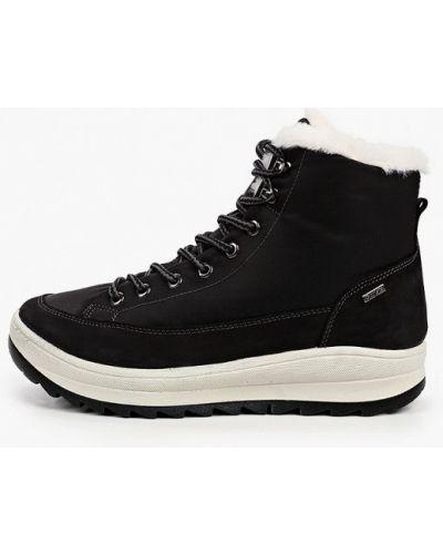 Черные кожаные ботинки Salamander