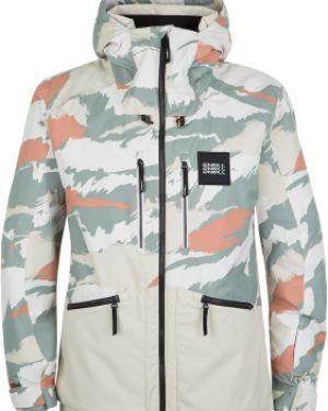 Куртка горнолыжная с капюшоном - белая O`neill