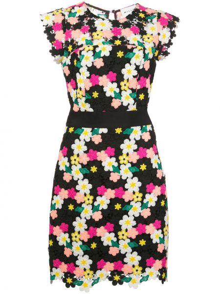 Платье мини с цветочным принтом прямое Milly