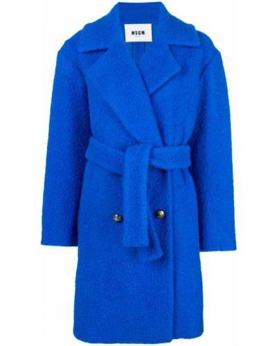 Пальто с воротником с поясом Msgm