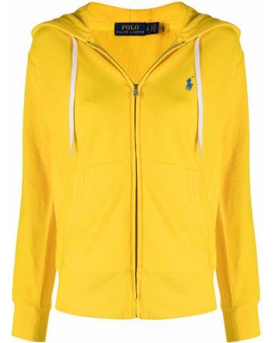 Желтое хлопковое поло с длинными рукавами Polo Ralph Lauren