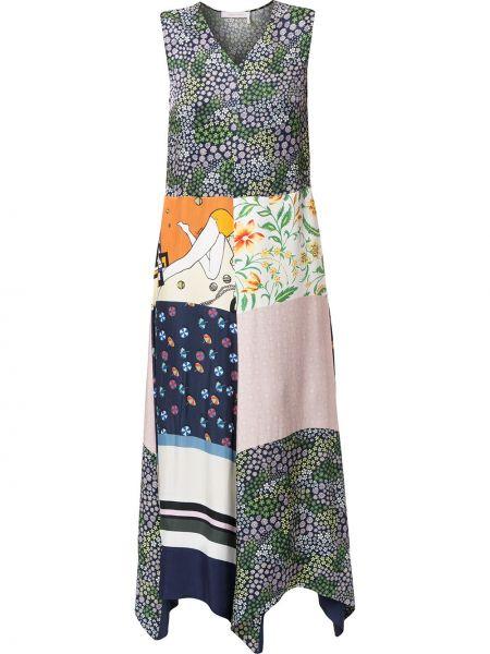 Платье макси с V-образным вырезом с рукавами See By Chloe