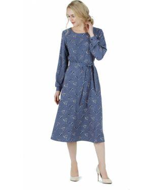 Платье с поясом на пуговицах с цветочным принтом Zip-art