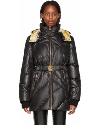 Черная куртка атласная Versace