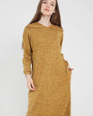 Повседневное платье осеннее желтый мадам т