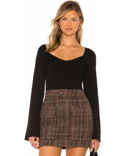 Черный свитер с длинными рукавами Line & Dot