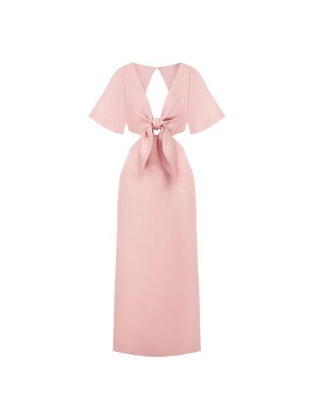 Платье миди розовое с открытой спиной Cult Gaia
