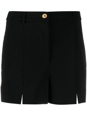 Прямые черные с завышенной талией шорты Boutique Moschino