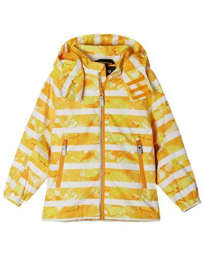 Свободная желтая куртка на молнии Reima