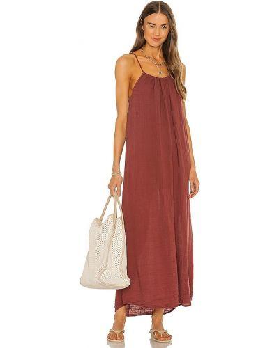 Платье макси длинное - коричневое Michael Stars