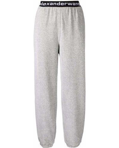Серые брюки с завышенной талией Alexanderwang.t