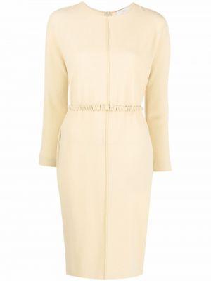 Żółta sukienka z długimi rękawami Antonelli