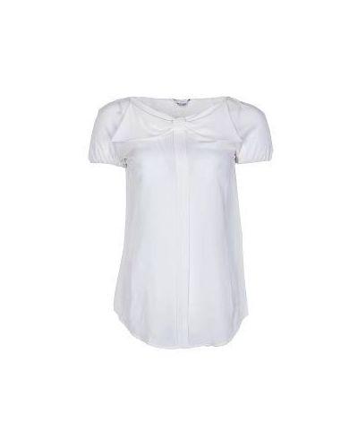 Белая блузка повседневная Moschino