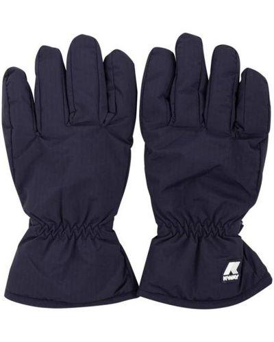 Niebieskie rękawiczki pikowane K-way
