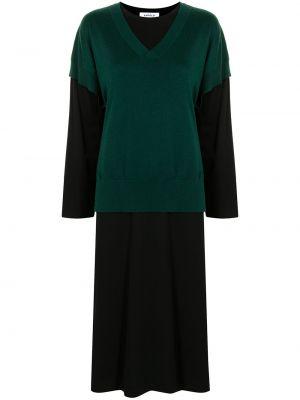 Sukienka długa z długimi rękawami - czarna Enfold