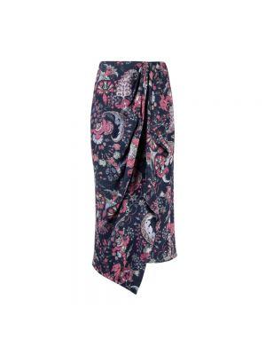 Spódnica boho - fioletowa Isabel Marant