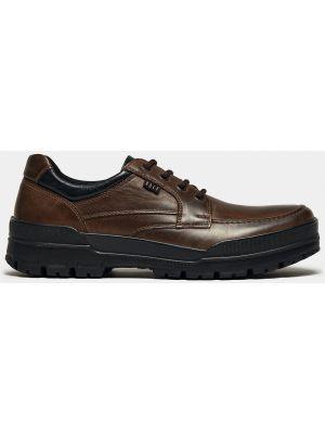 Коричневые кожаные полуботинки на шнуровке Ralf Ringer