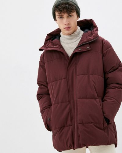 Утепленная красная короткая куртка Marks & Spencer