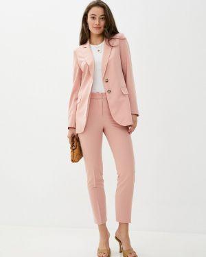 Облегающий костюмный розовый брючный костюм Villagi