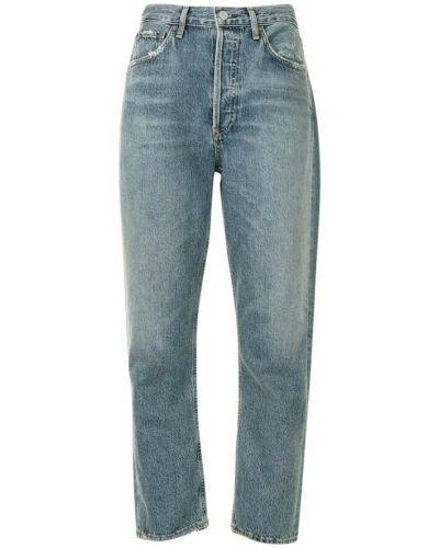 Niebieskie mom jeans Agolde