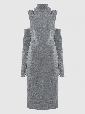 Платье миди с люрексом Balmain