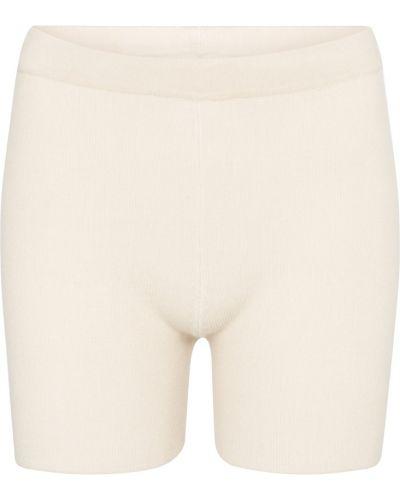 Бежевые короткие шорты из вискозы Jacquemus
