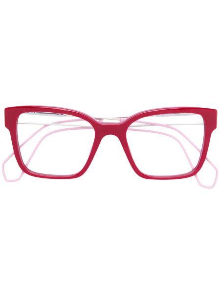 Очки хаки прямоугольные Miu Miu Eyewear