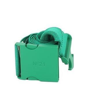 Зеленый ремень из вискозы с поясом No.21