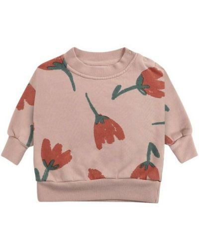 Różowa bluza w kwiaty Bobo Choses