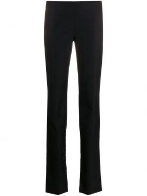 Шерстяные черные расклешенные брюки на пуговицах Versace Pre-owned