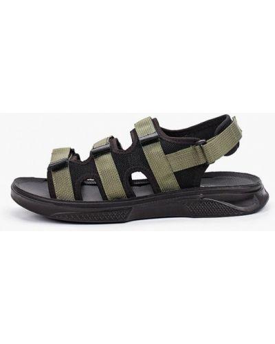 Зеленые текстильные сандалии Trien