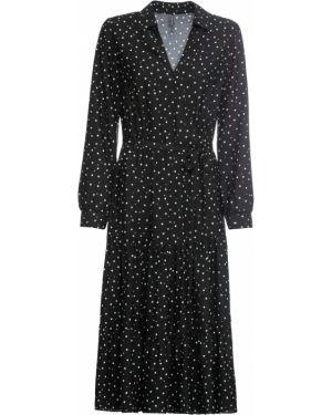 Платье в горошек платье-рубашка Bonprix