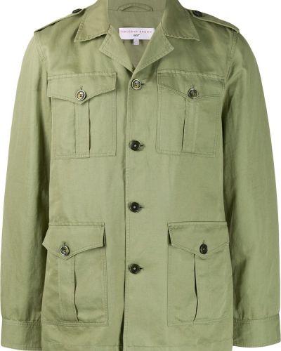 Длинная куртка зеленая милитари Orlebar Brown