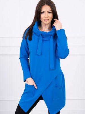 Niebieska tunika bawełniana na co dzień Kesi