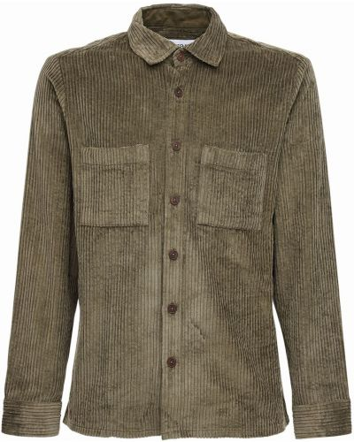 Классическая рубашка вельветовая с воротником на пуговицах Wax London