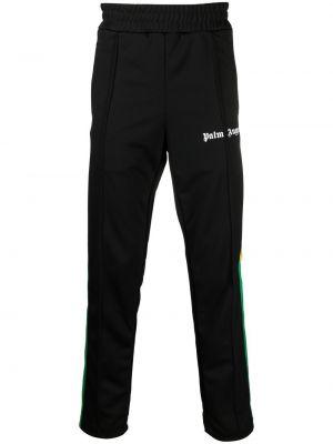 Klasyczne czarne spodnie z printem Palm Angels