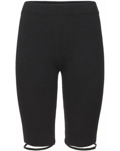 Черные шорты на резинке Jacquemus