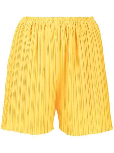 Плиссированные желтые шорты эластичные Bambah