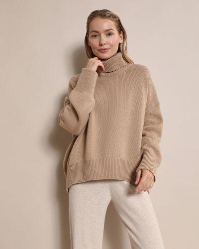 Шерстяной свитер с высоким воротником на резинке 12storeez