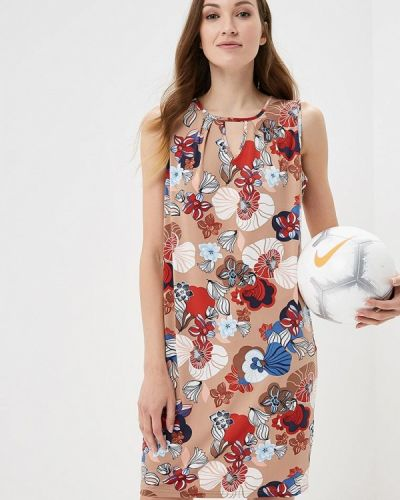 Платье весеннее бежевое Iwie