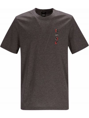 T-shirt z nadrukiem bawełniana Boss Hugo Boss