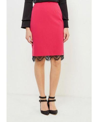 Розовая юбка карандаш с рукавом 3/4 Top Secret