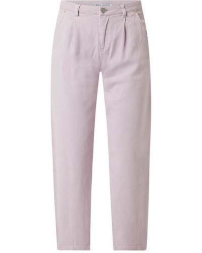 Fioletowe spodnie bawełniane Catwalk Junkie