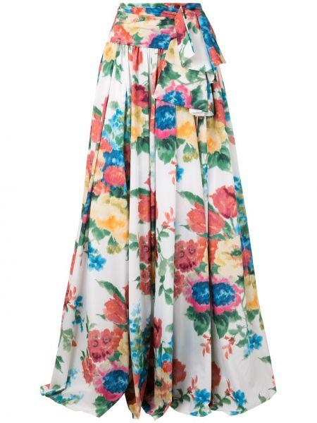 Spódnica maxi z wysokim stanem z printem w kwiaty Carolina Herrera