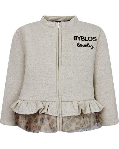Хлопковая бежевая толстовка Byblos