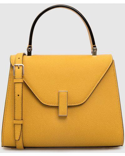 Кожаная желтая кожаная сумка Valextra