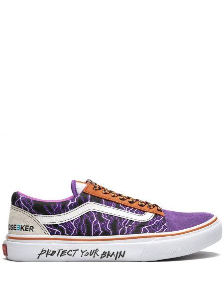Кожаные кеды - фиолетовые Vans