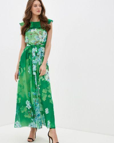 Прямое зеленое платье Арт-Деко