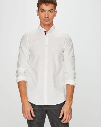 Рубашка с длинным рукавом однотонная хлопковая Armani Exchange